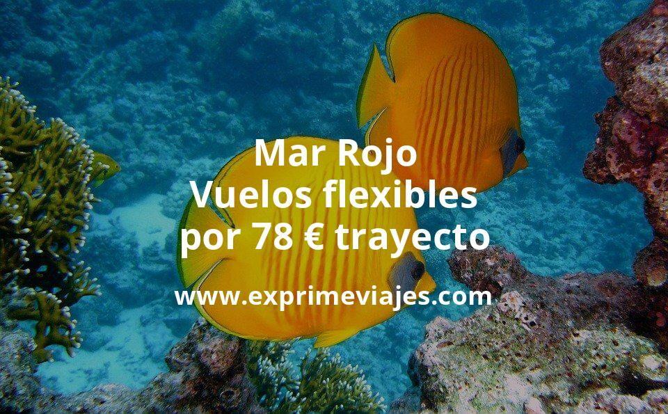 ¡Wow! Vuelos flexibles al Mar Rojo por 78euros trayecto
