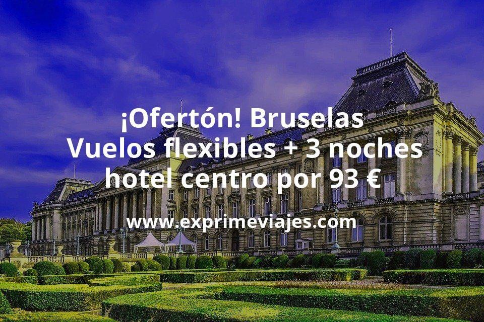 ¡Ofertón! Bruselas: Vuelos flexibles + 3 noches hotel centro por 93euros