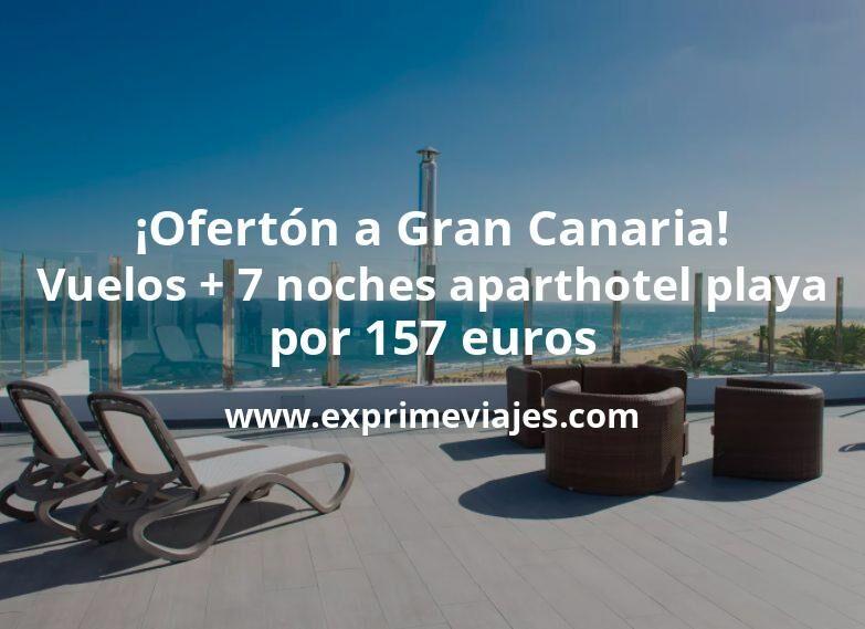 ¡Ofertón! Gran Canaria: vuelos + 7 noches aparthotel en la playa por 157euros
