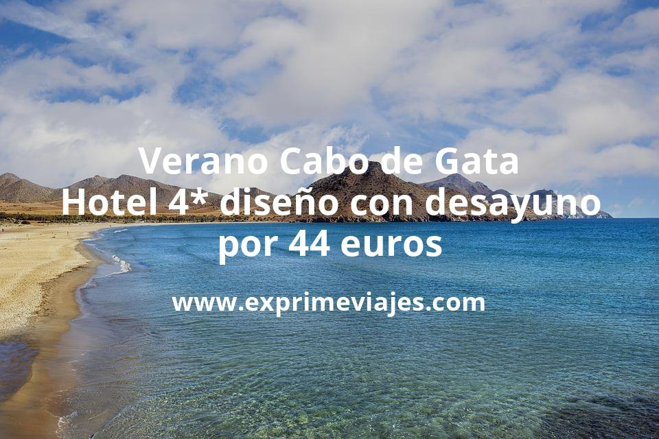 Verano en Cabo de Gata: Hotel 4* diseño con desayuno por 44€ p.p/noche