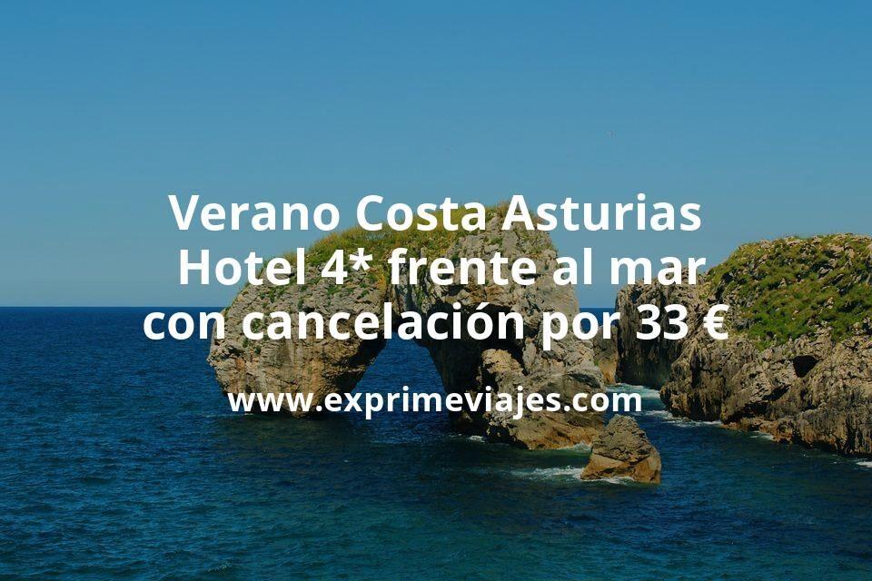 Verano Costa Asturias: Hotel 4* frente al mar con cancelación por 33€ p.p/noche