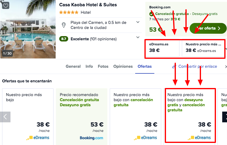 chollo hotel playa del carmen mexico lujo