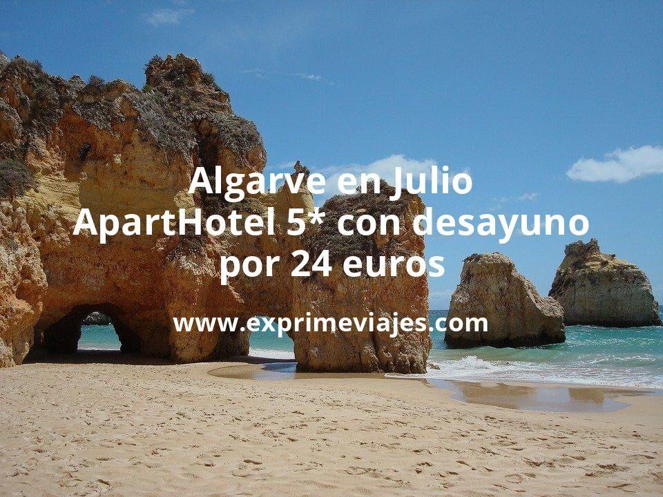 ¡Ofertón! Algarve en Julio: ApartHotel 5* con desayuno por 24€ p.p/noche