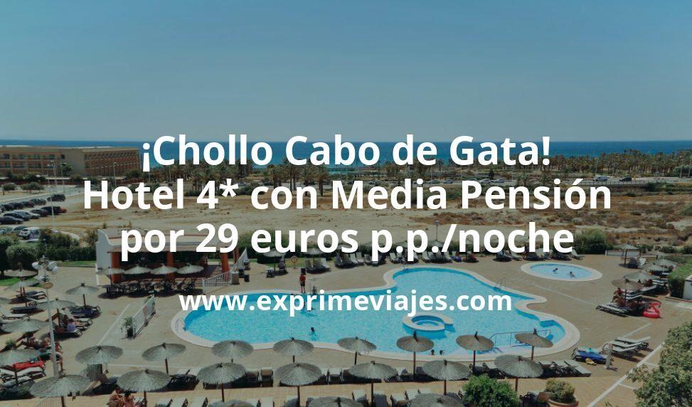 ¡Chollo! Cabo de Gata: Hotel 4* frente al mar con MEDIA PENSIÓN por 29euros p.p.