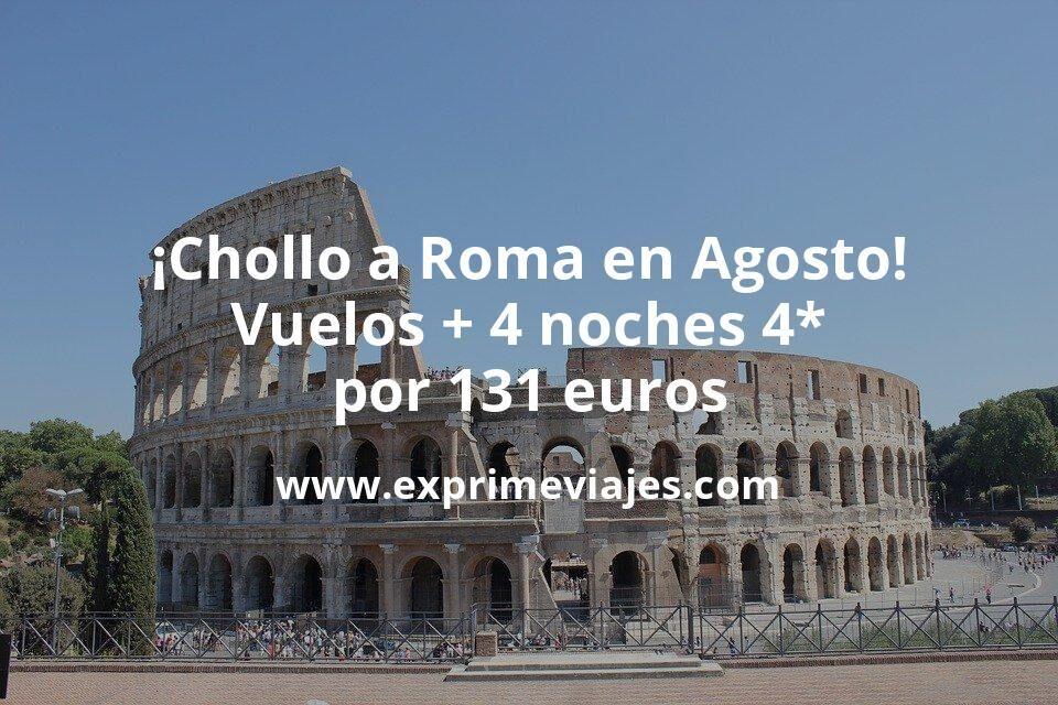 ¡Chollo! Roma en Agosto: Vuelos + 4 noches hotel 4* con cancelación por 131euros