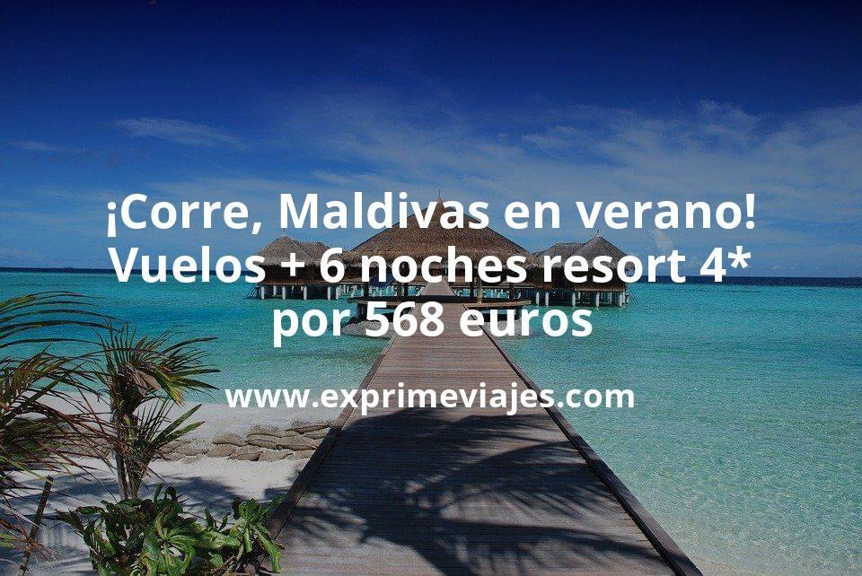 ¡Corre! Maldivas en verano: Vuelos flexibles 5* + 6 noches resort 4* por 568euros