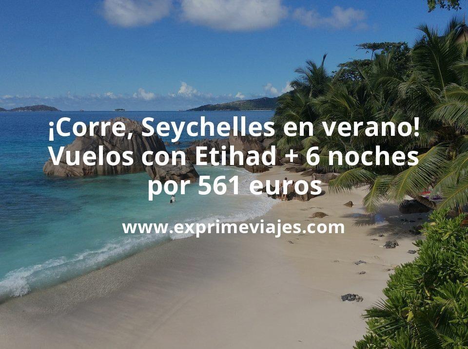 ¡Corre! Seychelles en verano: Vuelos con Etihad + 6 noches por 561euros