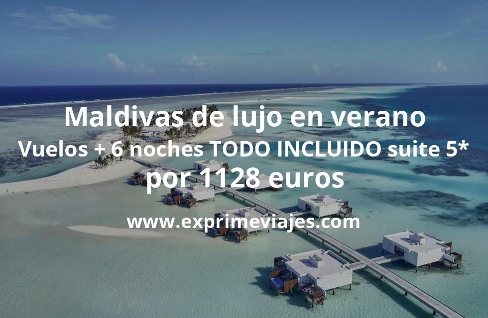 ¡Maldivas de lujo en verano! Vuelos con Qatar + 6 noches TODO INCLUÍDO en suite 5* por 1128euros