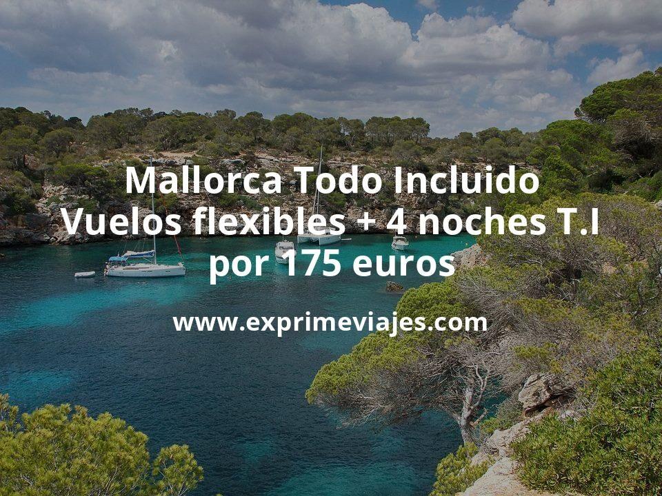 ¡Brutal! TODO INCLUÍDO en Mallorca: vuelos + 4 noches con desayunos, comidas y cenas por 175euros