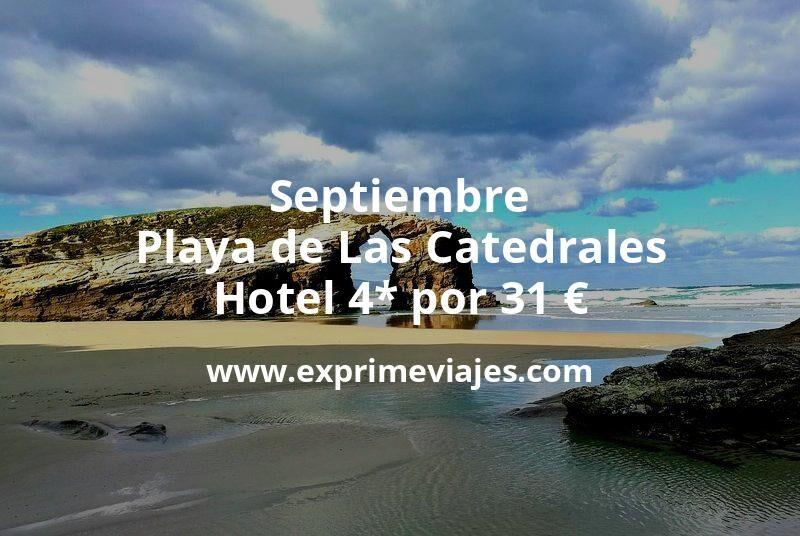 Septiembre Playa de Las Catedrales: Hotel 4* por 31€ p.p/noche