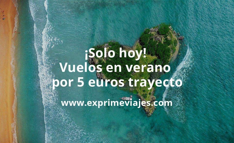 ¡Solo hoy! Vuelos en verano a 5euros trayecto (Cerdeña, Venecia, Roma, Oporto…)
