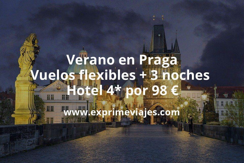 ¡Brutal! Verano en Praga: Vuelos flexibles + 3 noches hotel 4* por 98euros