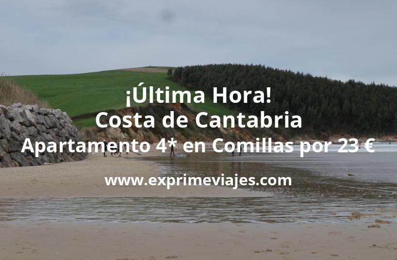 ¡Última Hora! Costa de Cantabria: Apartamento 4* en Comillas por 23€ p.p/noche