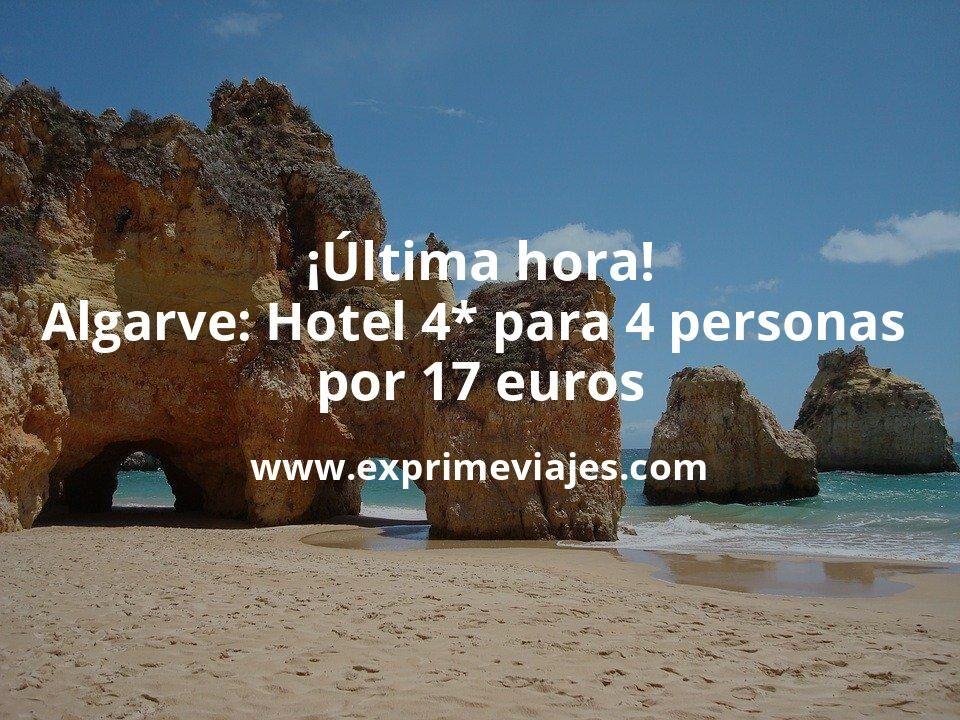 ¡Brutal Última hora! Algarve: Hotel 4* para 4 personas por 17€ p.p/noche
