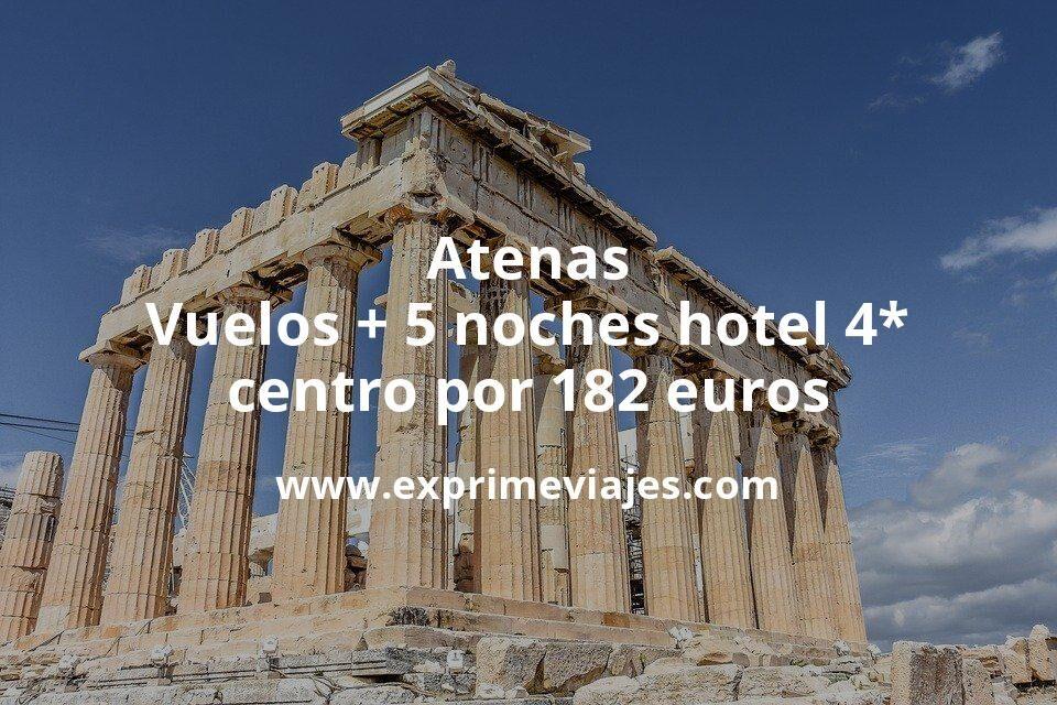 ¡Wow! Atenas: Vuelos + 5 noches hotel 4* centro por 182euros