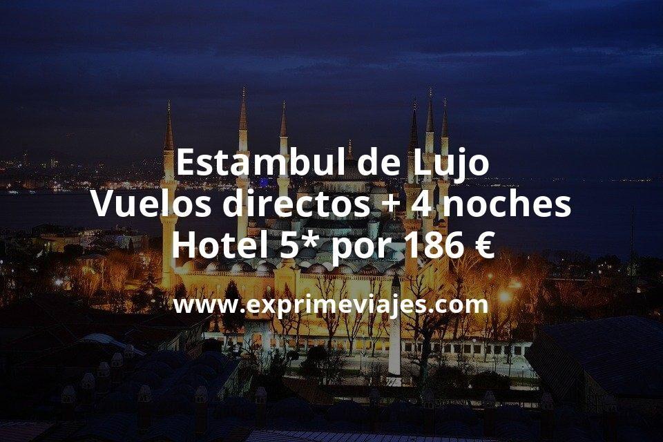 ¡Chollazo! Estambul de Lujo: Vuelos directos + 4 noches Hotel 5* por 186€ p.p/noche