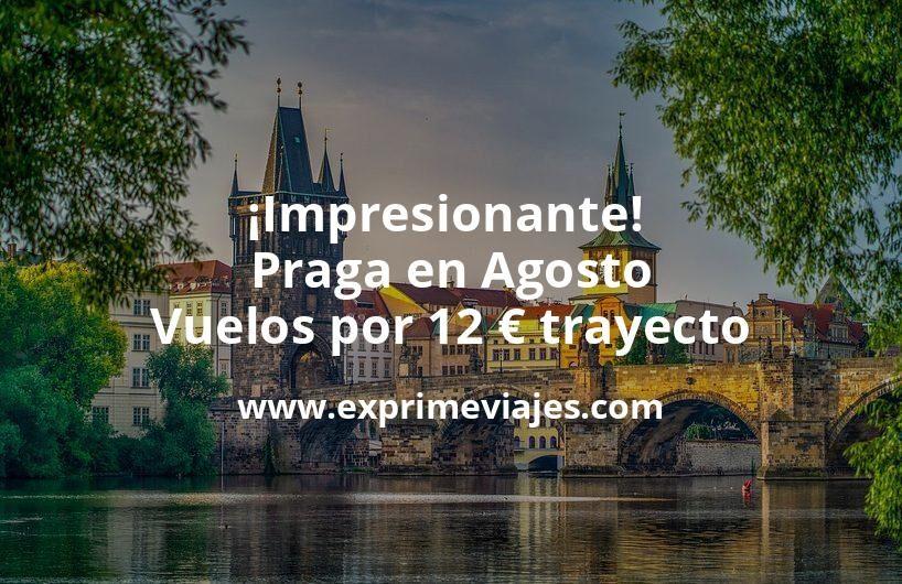 Impresionante Praga en Agosto Vuelos por 12 euros trayecto