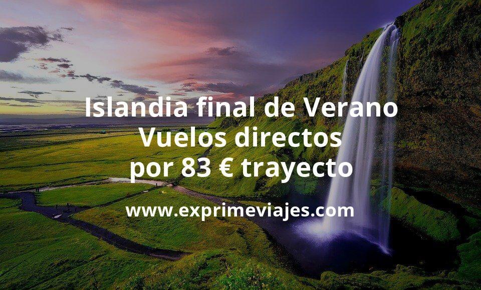 ¡Wow! Islandia final de Verano: Vuelos directos por 83euros trayecto