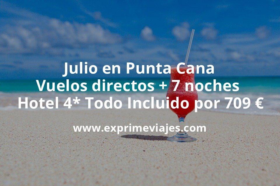 Verano en Punta Cana: Vuelos directos + 7 noches hotel 4* TODO INCLUIDO por 709euros