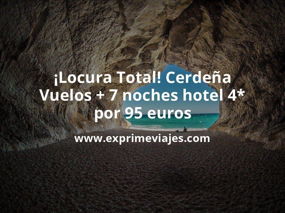 ¡Locura total! Cerdeña: vuelos + 7 noches hotel 4* por 95euros
