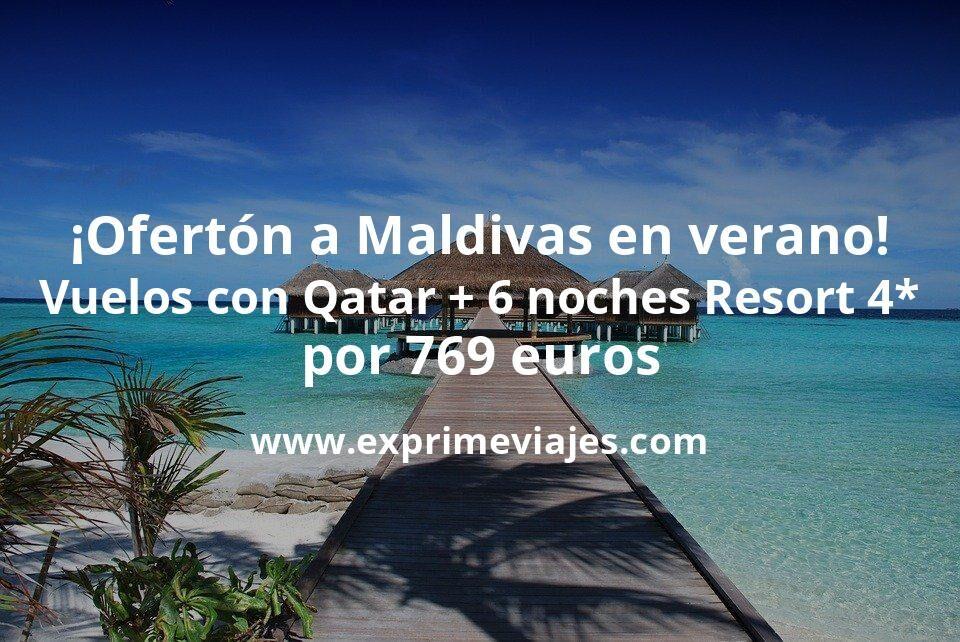 ¡Ofertón! Maldivas en verano: Vuelos flexibles 5* + 6 noches resort 4* por 769euros