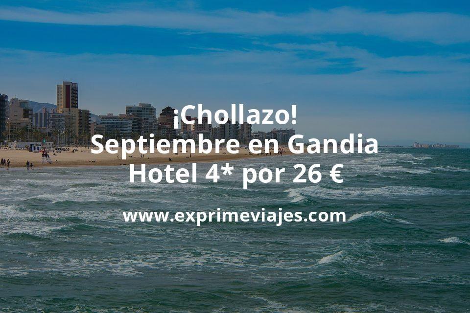 ¡Chollazo! Septiembre en Gandia: Hotel 4* por 26€ p.p/noche