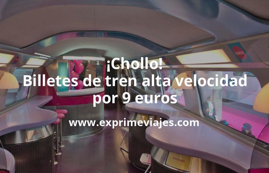 ¡Chollazo! Billetes de tren de alta velocidad por 9euros con Ouigo