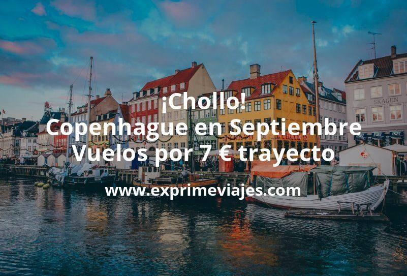 ¡Chollo! Copenhague en Septiembre: Vuelos por 7euros trayecto