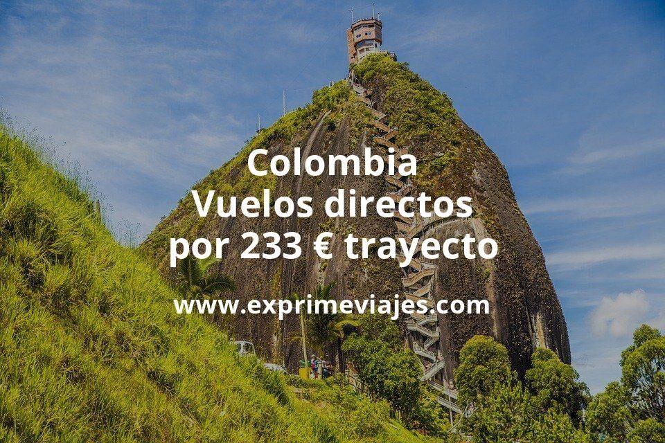 ¡Wow! Vuelos directos a Colombia por 233euros trayecto