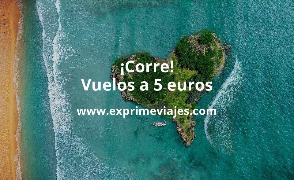 ¡Corre! Vuelos a 5euros trayecto (Mallorca, Ibiza, Menorca, Oporto…)