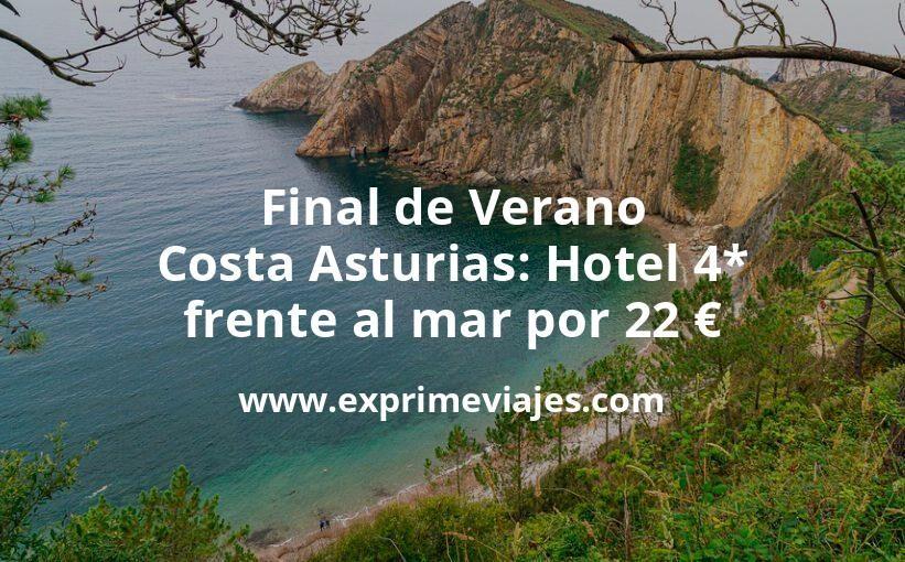 Final de Verano Costa Asturias: Hotel 4* frente al mar por 22€ p.p/noche