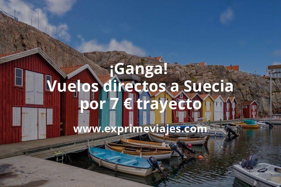 ¡Ganga! Vuelos directos a Suecia por 7euros trayecto