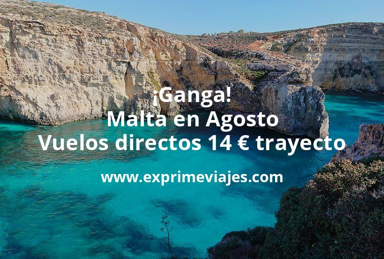¡Ganga! Malta en Agosto: Vuelos directos por 14euros trayecto