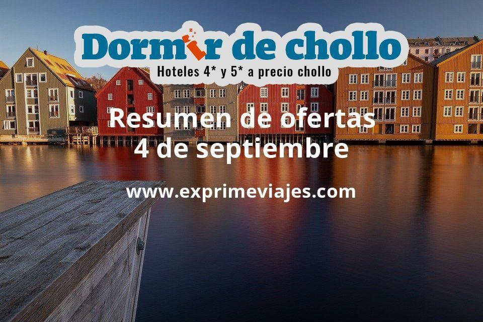 Resumen de ofertas de Dormir de Chollo – 4 de septiembre
