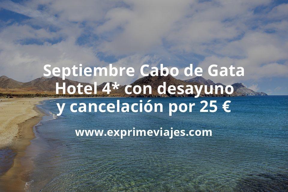 ¡Última hora! Cabo de Gata: Hotel 4* con desayuno y cancelación por 25€ p.p/noche