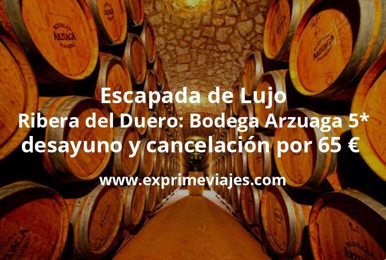Escapada de Lujo Ribera del Duero: Bodega Arzuaga 5* con desayuno y cancelación por 65€ p.p/noche