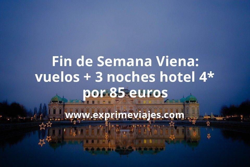 ¡Brutal! Fin de Semana en Viena: Vuelos + 3 noches hotel 4* por 85euros