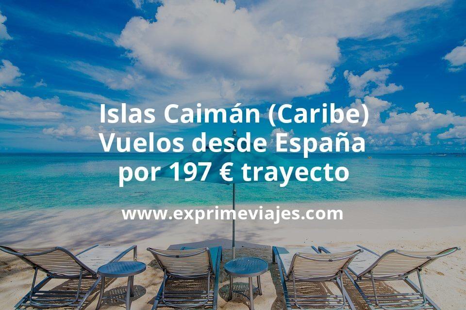 ¡Wow! Islas Caimán (Caribe): Vuelos desde España por 197euros trayecto