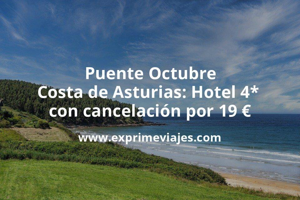 ¡Chollo! Puente Octubre Costa de Asturias: Hotel 4* frente a la playa con cancelación por 19€ p.p/noche