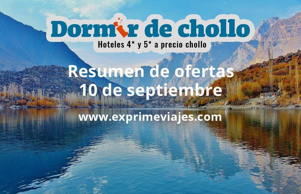 Resumen de ofertas de Dormir de Chollo – 10 de septiembre
