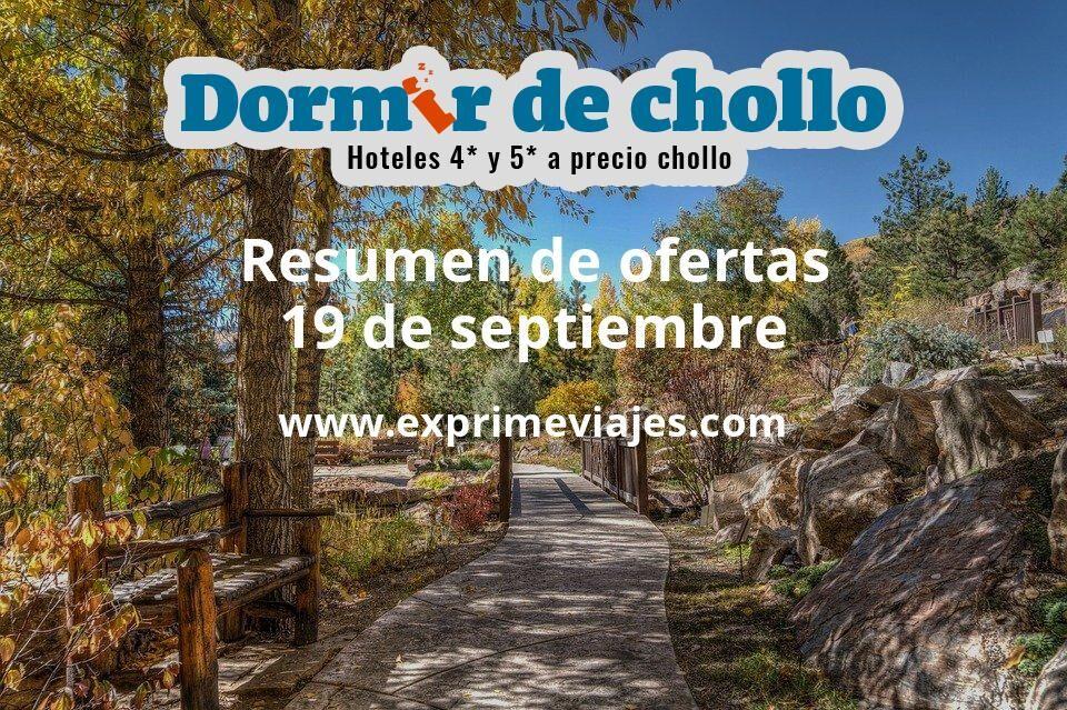 Resumen de ofertas de Dormir de Chollo – 19 de septiembre