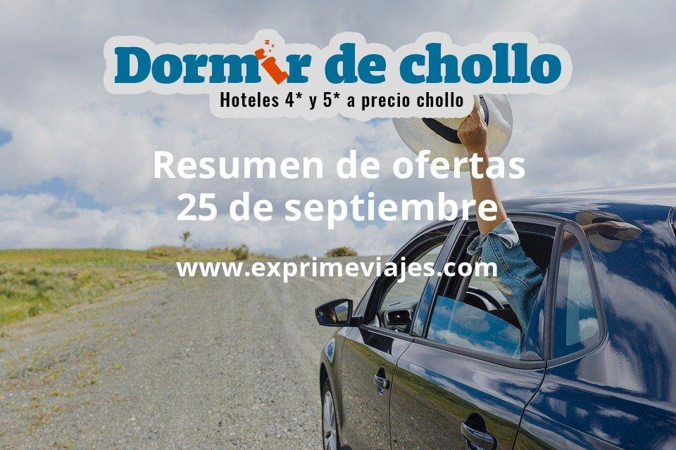 Resumen de ofertas de Dormir de Chollo – 25 de septiembre