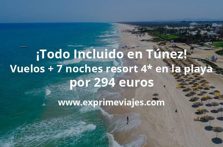 ¡Increíble! Todo Incluido en Túnez: vuelos + 7 noches resort 4* en la playa por 294euros