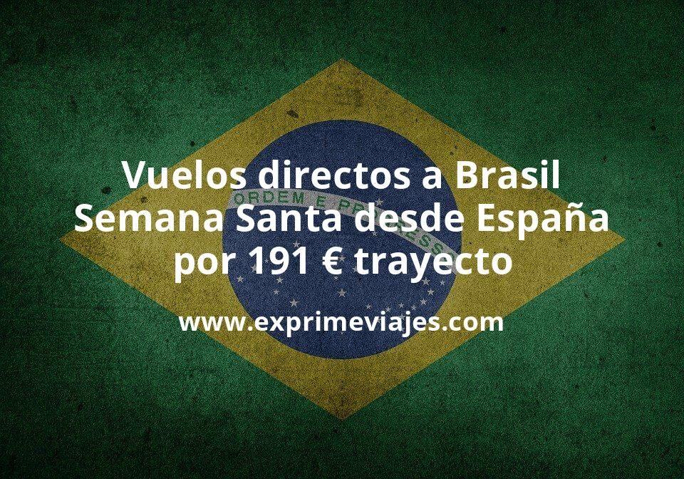 Wow! Vuelos directos a Brasil en Semana Santa desde España por 191euros trayecto