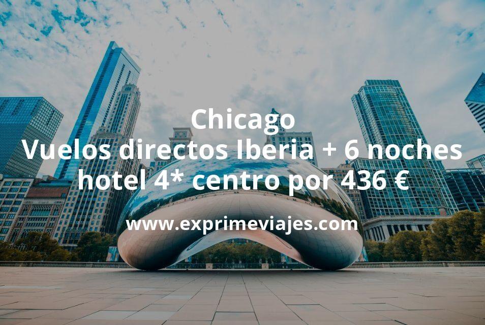 ¡Brutal! Chicago: Vuelos directos de Iberia + 6 noches hotel 4* centro por 436euros