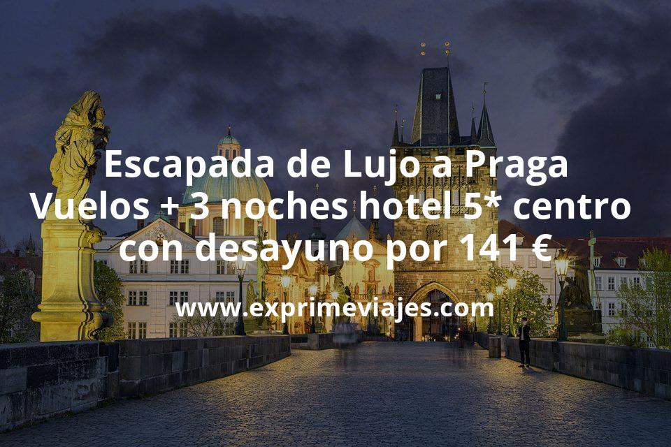 Escapada de Lujo a Praga: Vuelos + 3 noches hotel 5* centro con desayuno por 141euros