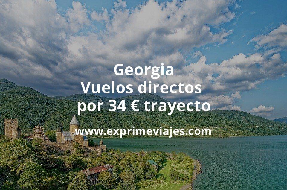 ¡Chollo! Georgia: Vuelos directos por 34euros trayecto