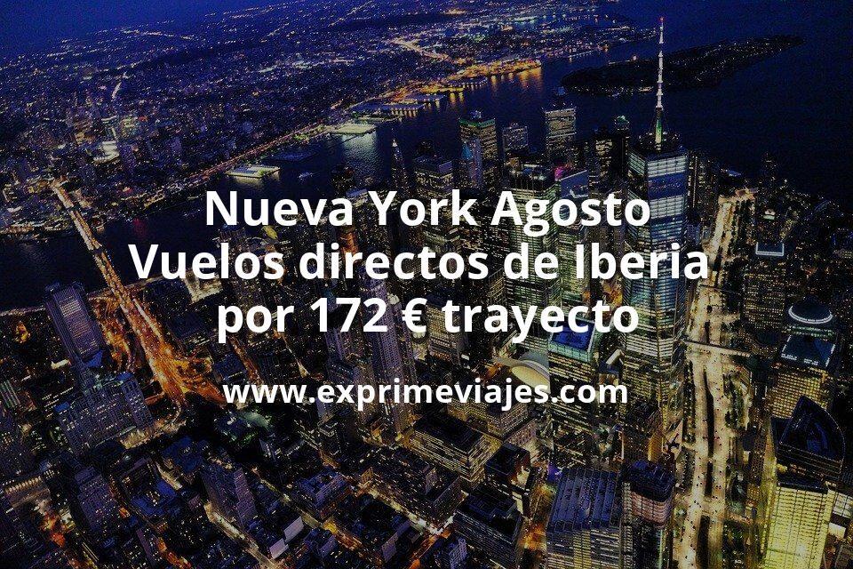 ¡Wow! Nueva York Agosto: Vuelos directos de Iberia por 172euros trayecto