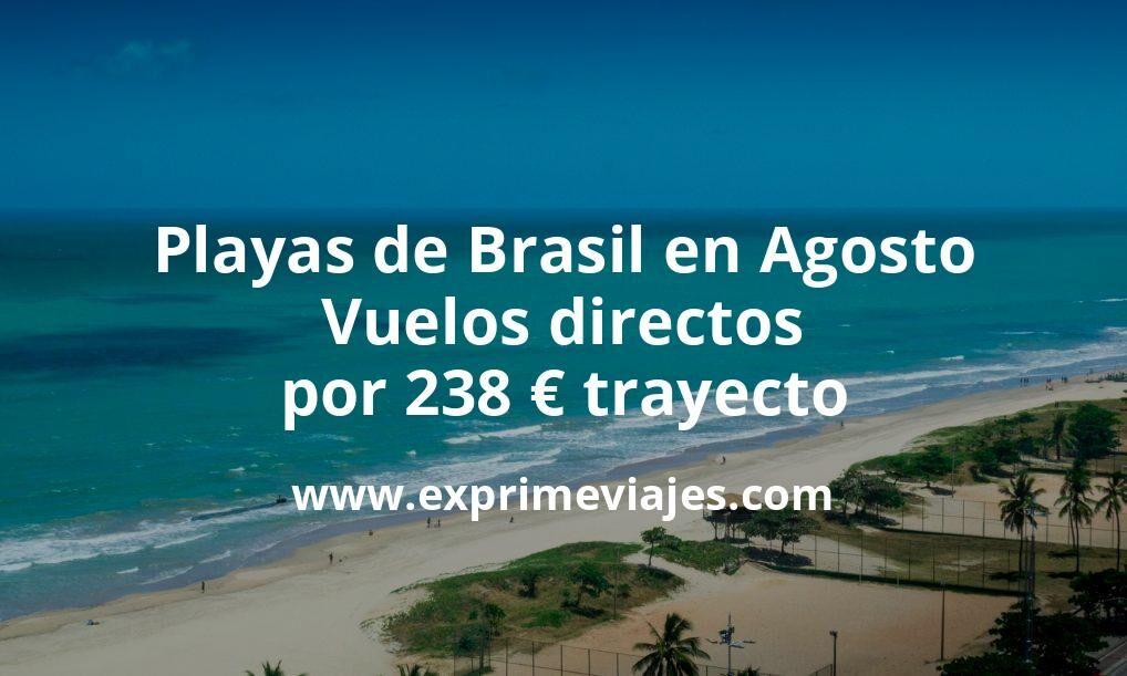 Playas de Brasil en Agosto: Vuelos directos por 238euros trayecto
