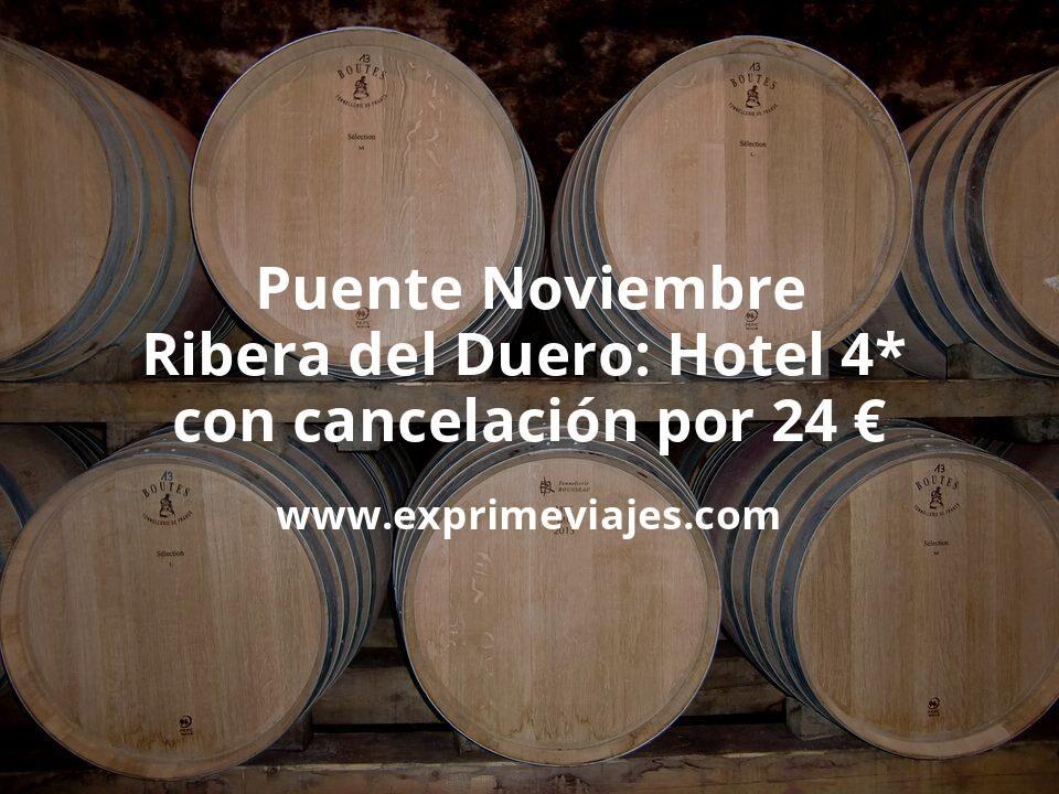 ¡Chollo! Puente Noviembre en Ribera del Duero: Hotel 4* con cancelación por 24€ p.p/noche